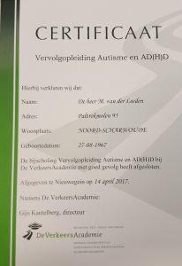Autisme en Autorijden